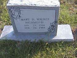 Mary D. <I>Walker</I> Richmond