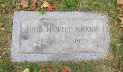 Orie <I>Hewitt</I> Grady