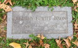 Dorothy <I>Hewitt</I> Dixon