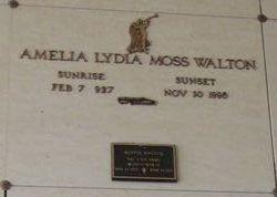 Amelia Lydia <I>Moss</I> Walton