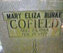 Mary Eliza <I>Burke</I> Cofield