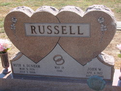 Ruth A <I>Dunham</I> Russell