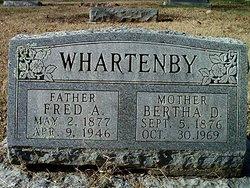 "Frederick Arthur ""Fred"" Whartenby"
