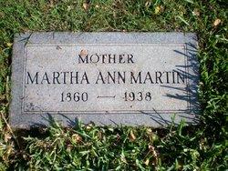 Martha Ann <I>Wells</I> Martin