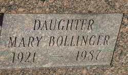 Mary <I>Hill</I> Bollinger