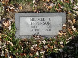 Mildred F. <I>Payne</I> Epperson