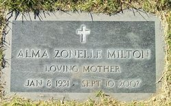 Alma Zonelle <I>Gregg</I> Milton