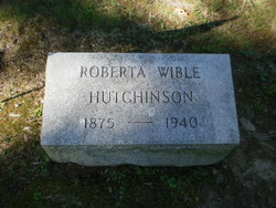 Roberta <I>Wible</I> Hutchinson