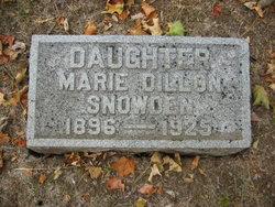 Marie <I>Dillon</I> Snowden