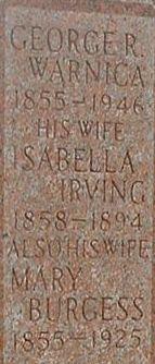 Isabella <I>Irving</I> Warnica