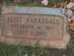 Alice Barksdale