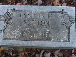 Cynthia M Sutton