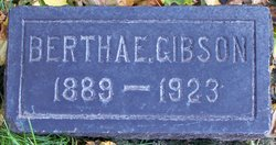Bertha E Gibson