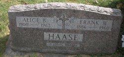 Alice B <I>Leonard</I> Haase