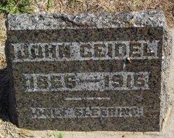 "Johan William ""John"" Geidel, Jr"