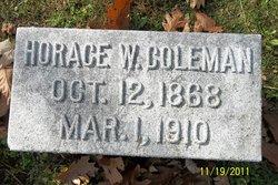 Horace W Coleman