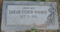 Sarah <I>Fisher</I> Rimmer
