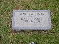 Irene <I>Troutman</I> Foutz