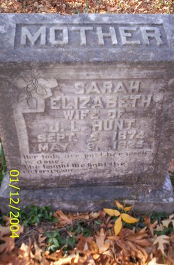 "Sarah Elabeth/Elizabeth ""Lizzie"" <I>Fish</I> Hunt"