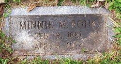 Minnie Mae <I>Moore</I> Rohr
