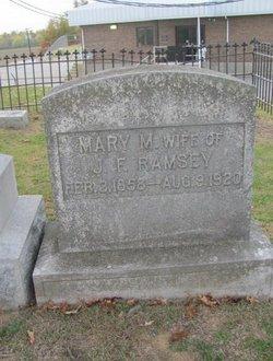 Mary M <I>Houston</I> Ramsey