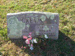 Sarah E <I>Belcher</I> Crews