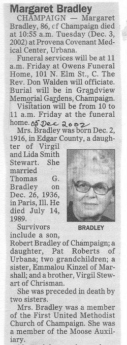 Margaret <I>Stewart</I> Bradley