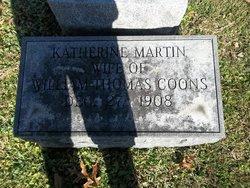 Katherine <I>Martin</I> Coons