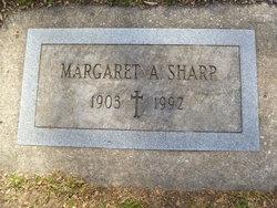 Margaret A Sharp