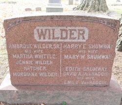 Jennie <I>Wilder</I> Hatcher