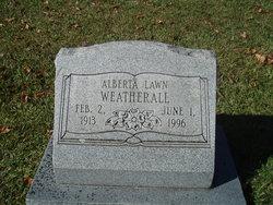 Alberta <I>Sawyer</I> Weatherall