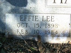 Effie Lee <I>Brunson</I> Hansbarger