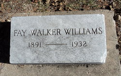 Fay Anna <I>Walker</I> Williams