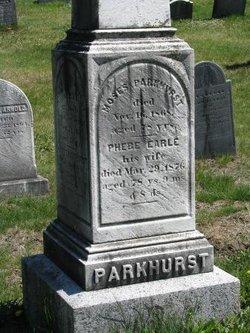Phebe <I>Earle</I> Parkhurst