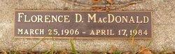 Florence D <I>Warner</I> MacDonald