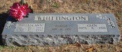 Thelma Ann <I>Nicholas</I> Whittington