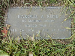 Harold A Rose