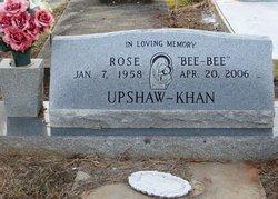 "Rose ""Bee-Bee"" <I>Upshaw</I> Khan"