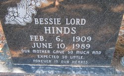 Bessie <I>Lord</I> Hinds