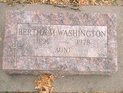 Bertha M Washington