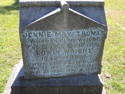 Jennie May <I>Thomas</I> Wright