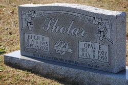 Opal Elizabeth <I>Francis</I> Sholar