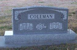 Effie E <I>Claudson</I> Coleman