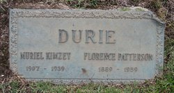 Florence <I>Patterson</I> Durie