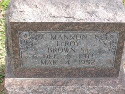 Mannon LeRoy Brown, Sr