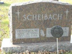 "Frederick W ""Fritz"" Scheibach, Jr"