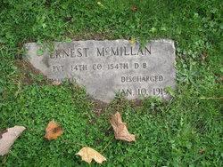 Pvt Ernest McMillan