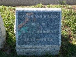 Sarah Ann <I>Wilson</I> Barnett