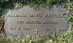 Barbara <I>Davis</I> Whitlock