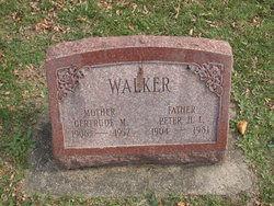 Gertrude M Walker